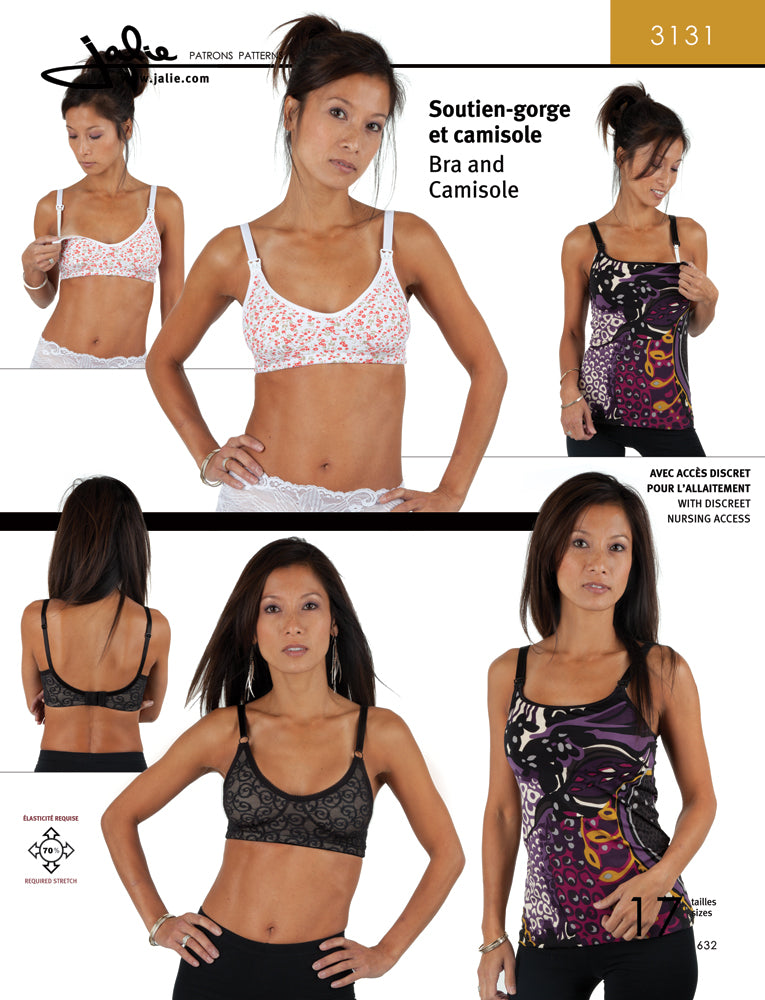 Jalie 3131: Camisole and Bra Sewing Pattern