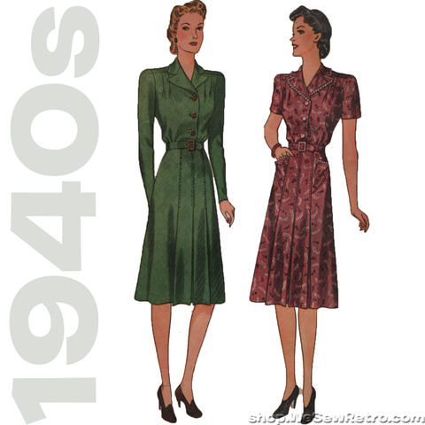 1940s Dress Vintage Pattern - Simplicity 3471 - Plus Size Vintage Sewing Pattern