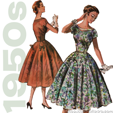 1950s Dress Vintage Sewing Pattern - McCall's 3718