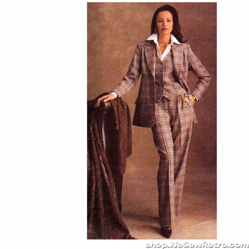McCall's 3726 Sewing Pattern - Misses Three Piece Suit Pattern