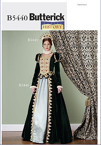Making History Renn Faire Costume - Renaissance Queen Dress Sewing Pattern - Butterick 5440