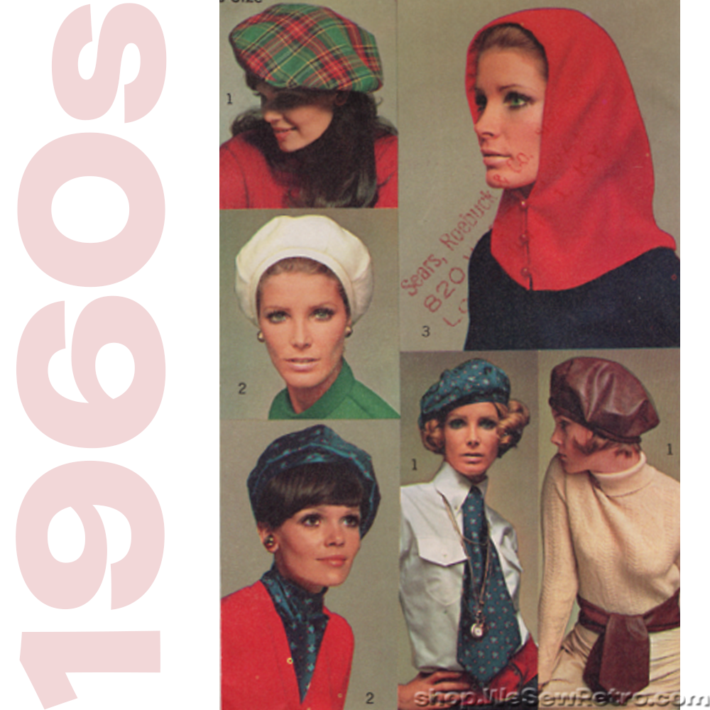 Simplicity 7872 Sewing Pattern - Womens Hats Vintage Pattern - 1960s H –  WeSewRetro 589bf30e1aa