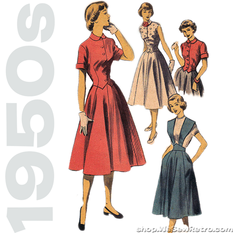 "1950s Vintage Sewing Pattern: Suspender Skirt & Blouse. Advance 5749. 35"" Bust"