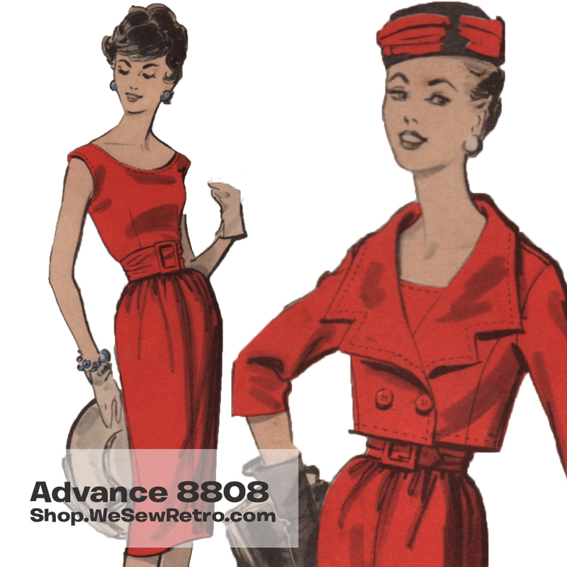 1950s Dress Vintage Sewing Pattern - Advance 8808