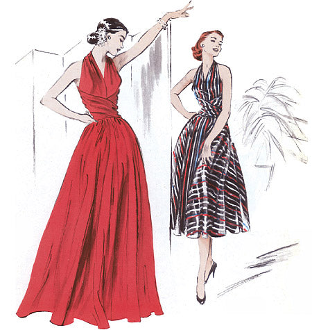B4919 Dress Pattern - 1950s Repro Vintage Sewing Pattern Butterick 4919