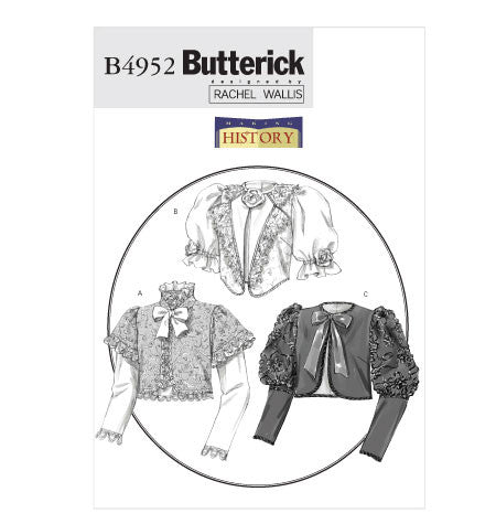 B4952 Making History Jacket Sewing Pattern - Butterick 4952 Rachel Wallis Pattern