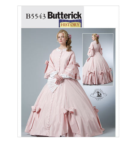 Misses Civil War Costume Sewing Pattern - Butterick B5543