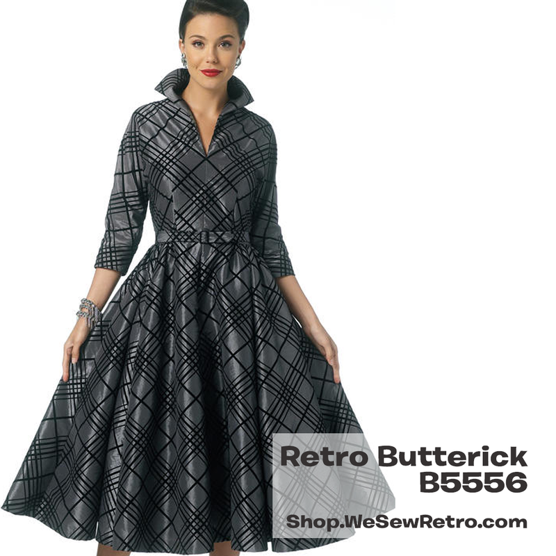 B5556 1950s Dress Sewing Pattern - Butterick 5556 Dress Sewing Pattern