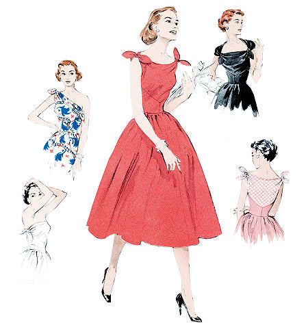 B5709 Dress Pattern - 1950s Repro Vintage Sewing Pattern Butterick 5708