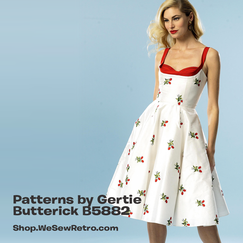 B5882 Patterns by Gertie Dress Sewing Pattern - Butterick 5882 Vintage Inspired Dress Pattern