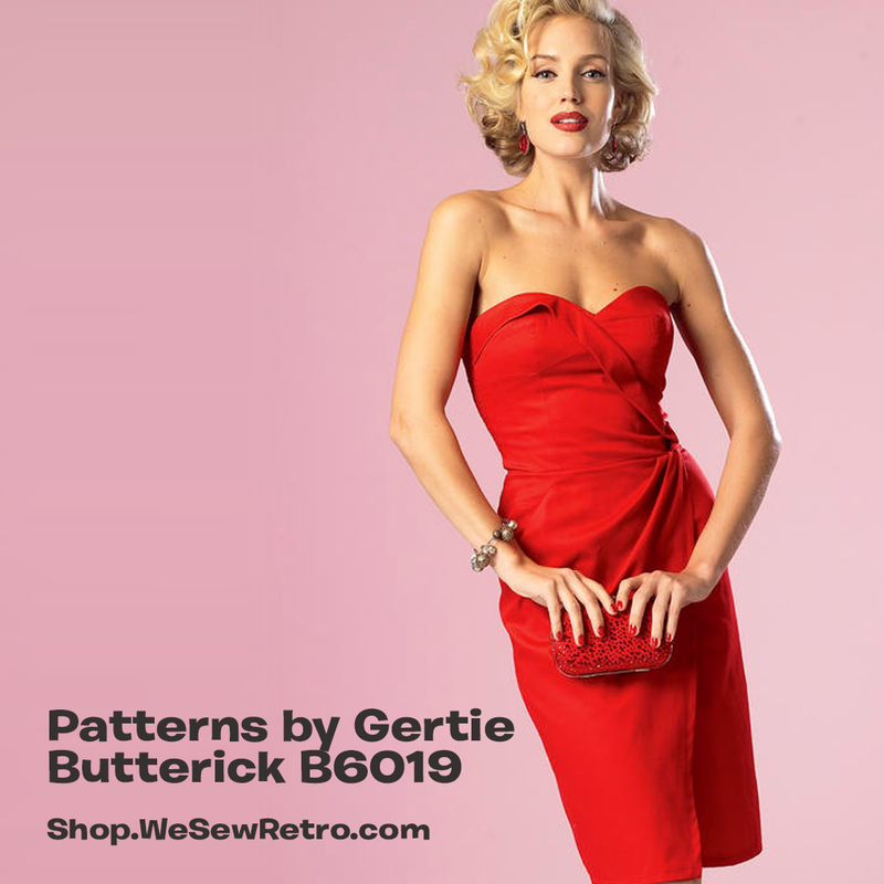 B6019 Patterns by Gertie Dress Sewing Pattern - Butterick 6019 Vintage Inspired Dress Pattern