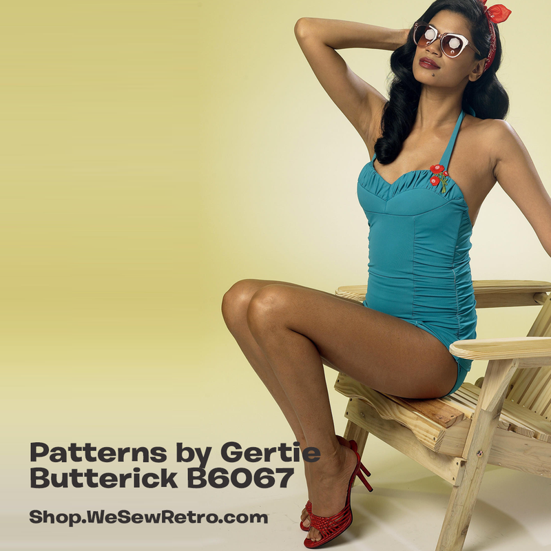 B6067 Patterns by Gertie Bathing Suit Sewing Pattern - Butterick 6067 Vintage Inspired Swimsuit Pattern