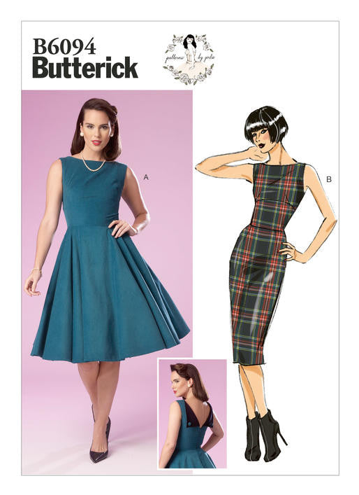 Butterick B6094 Dress Sewing Pattern - Patterns by Gertie