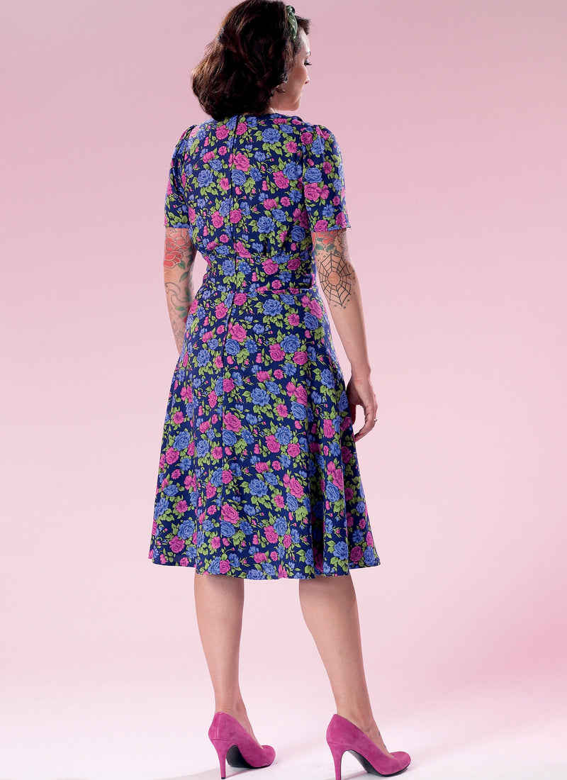 B6380 Patterns by Gertie Dress Sewing Pattern - Butterick 6380 Vintage Inspired Dress Pattern