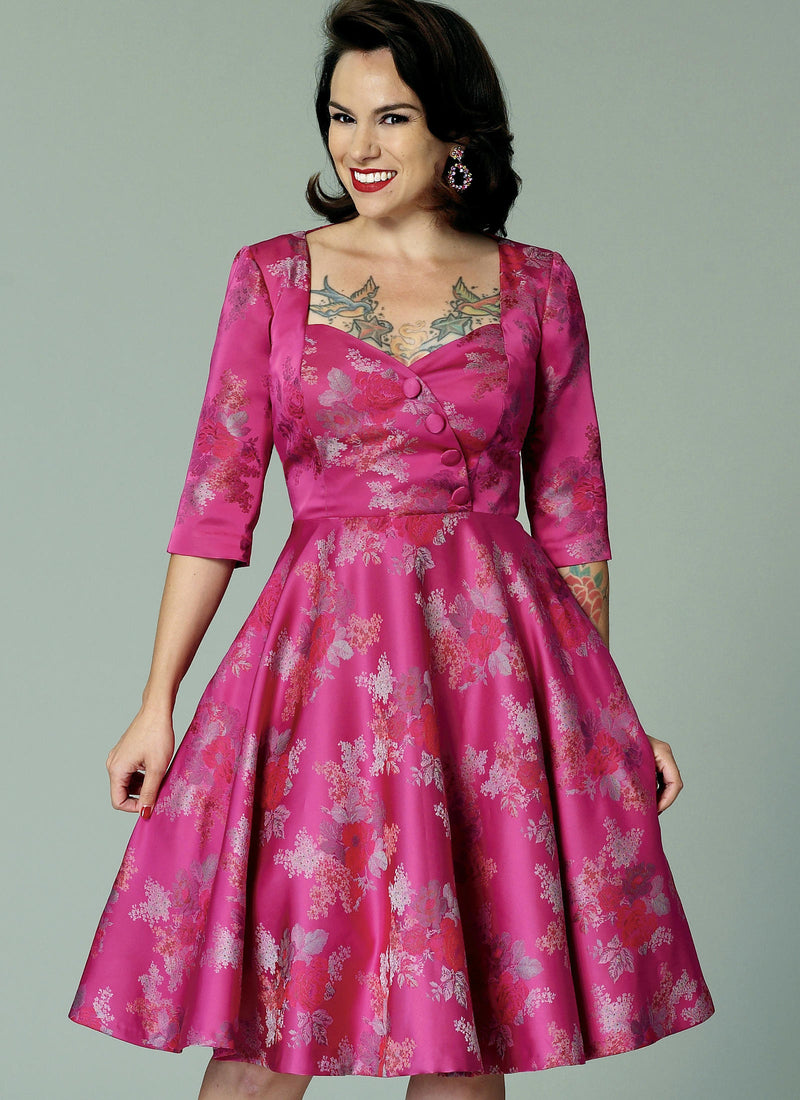 B6412 Butterick 6412 Sewing Pattern Gertie Vintage Dress Pattern
