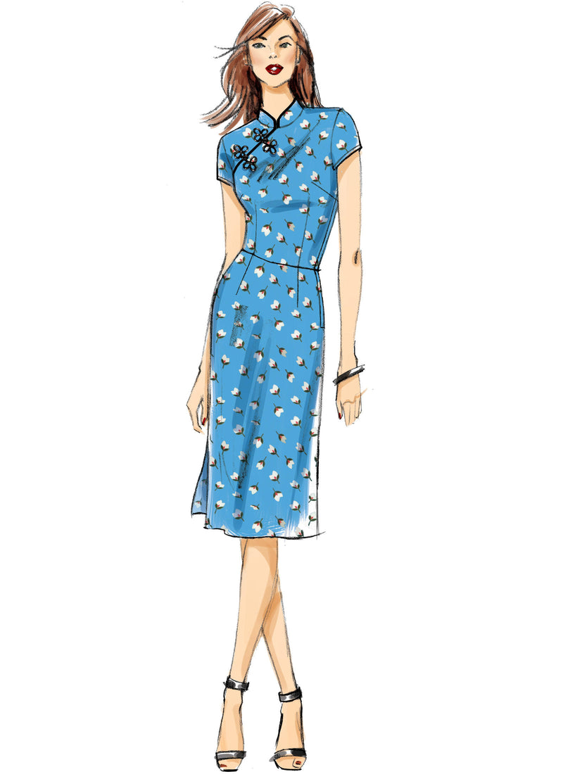 B6483 Patterns by Gertie Qipao Cheongsam Dress Sewing Pattern - Butterick 6483 Vintage Inspired Dress Pattern