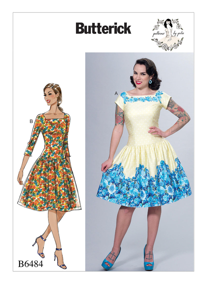 B6484 Patterns by Gertie Dress Sewing Pattern - Butterick 6484 Vintage Inspired Dress Pattern