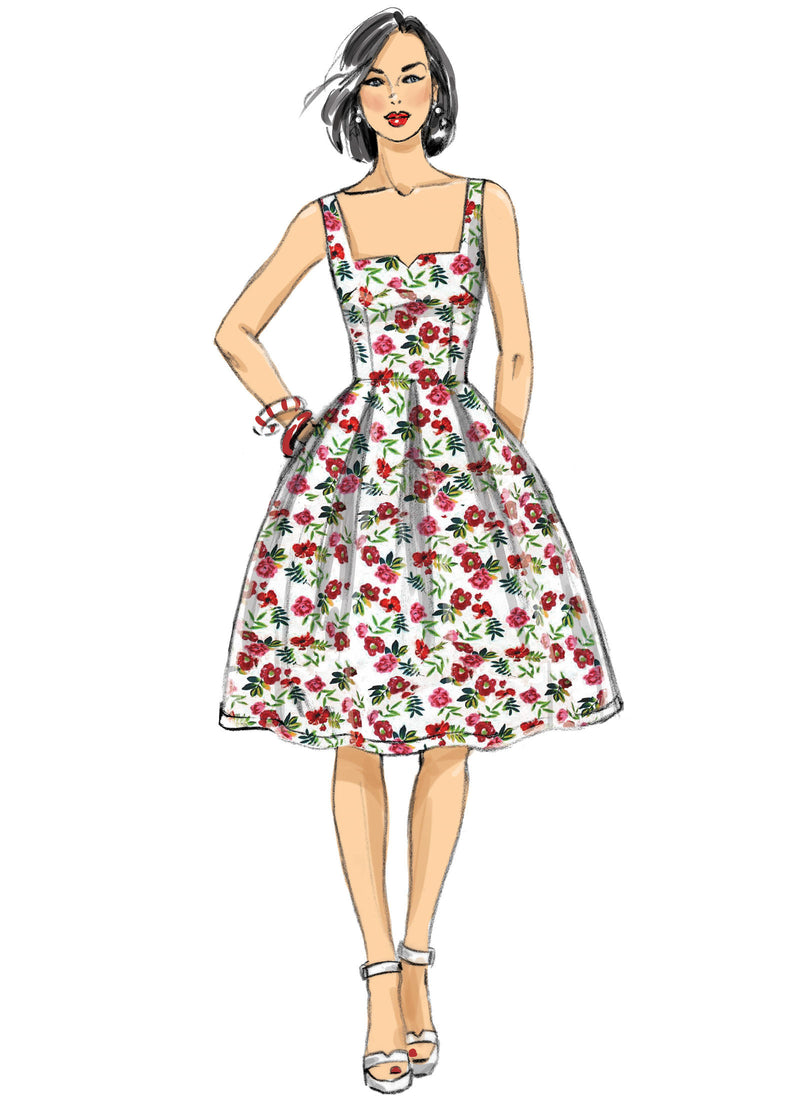 B6556 Patterns by Gertie Dress Sewing Pattern - Butterick 6556 Vintage Inspired Dress Pattern