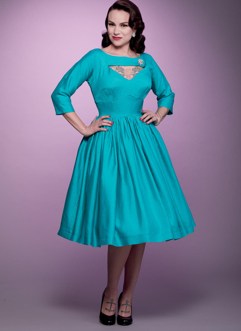 B6590 Patterns by Gertie Dress Sewing Pattern - Butterick 6590 Vintage Inspired Dress Pattern