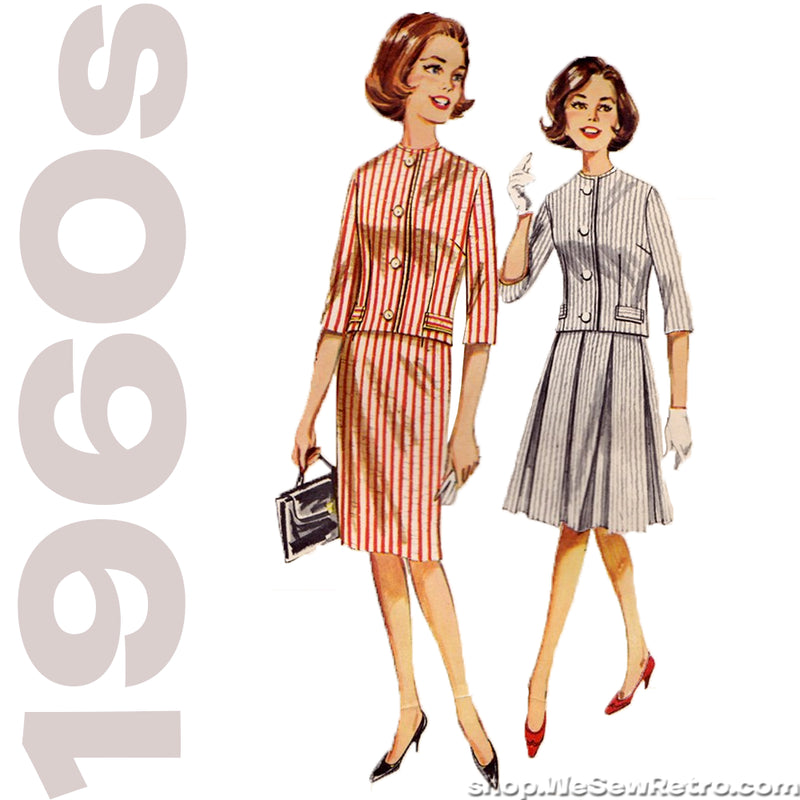 1960s Skirt Suit Vintage Pattern - Butterick 2258