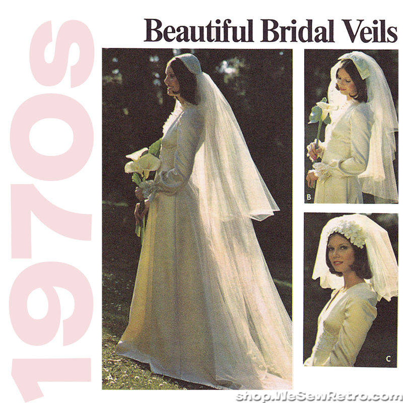 1970s Bridal Veils Vintage Sewing Pattern - Butterick 3753