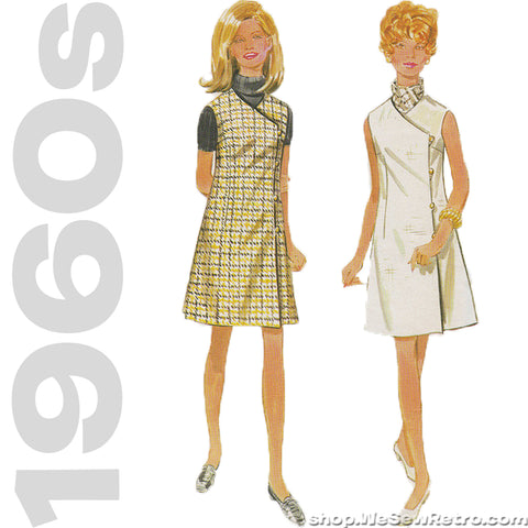 1960s Vintage Wrap Dress Sewing Pattern - Butterick 5000