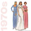 1970s Floor Length Gown Vintage Sewing Pattern - Butterick 5216