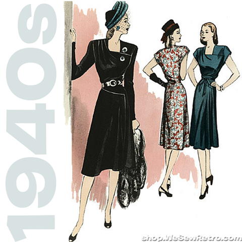 Butterick 5281. 1940s Vintage Reproduction Pattern. 1940s Dress Sewing Pattern. Retro Butterick Pattern.