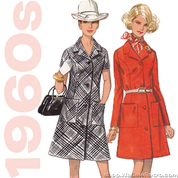 1960s Dress Vintage Sewing Pattern. Butterick 5456