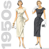 1950s Repro Vintage Sewing Pattern: Belted Dress. Butterick 5880