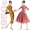 1950s Repro Vintage Sewing Pattern: Fitted Dress. Butterick 5813