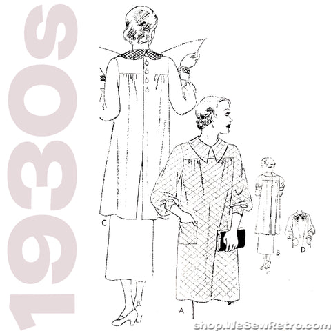 Butterick 5881 - 1930s Smock Vintage Sewing Pattern