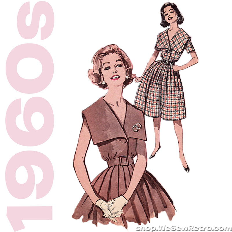 1960s Dress Vintage Pattern - Butterick 9689