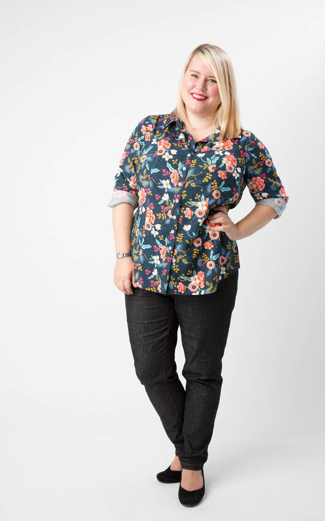 Curve-friendly Shirt Sewing Pattern - Harrison Shirt from Cashmerette