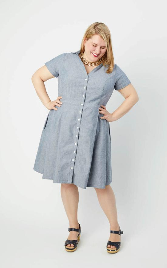 Cashmerette Lenox Shirtdress Paper Sewing Pattern