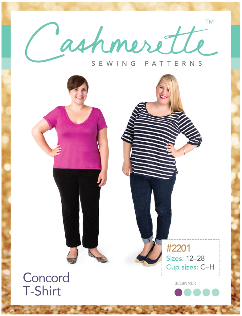 Cashmerette Concord T-Shirt Paper Sewing Pattern