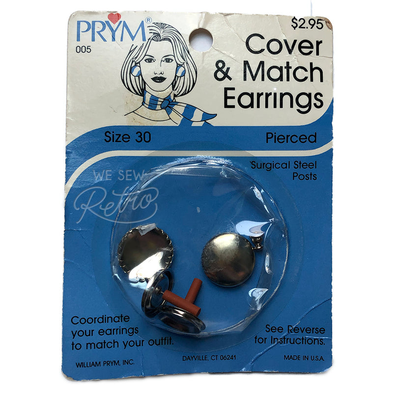 Vintage Cover Your Own Earrings