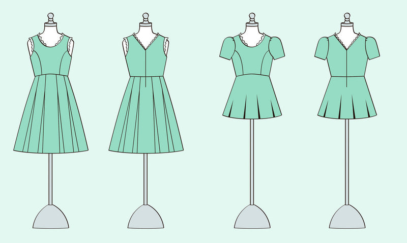 Violette Field Threads Harlow Dress and Peplum Top Paper Sewing Pattern (Misses)