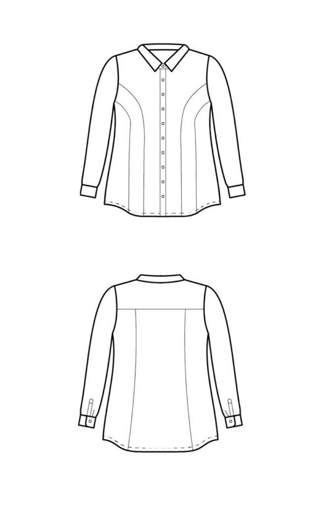 Curve-friendly Shirt Sewing Pattern - Harrison Shirt from ...