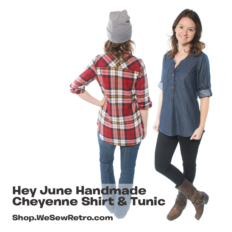 Hey June Cheyenne Shirt PDF Sewing Pattern