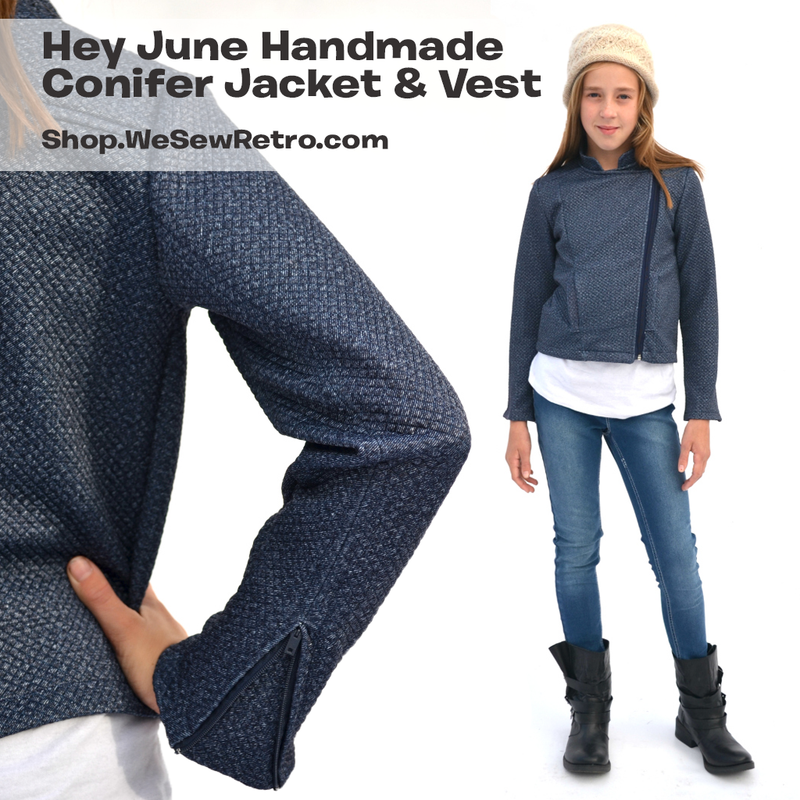 Hey June Conifer Girls Moto Jacket PDF Sewing Pattern