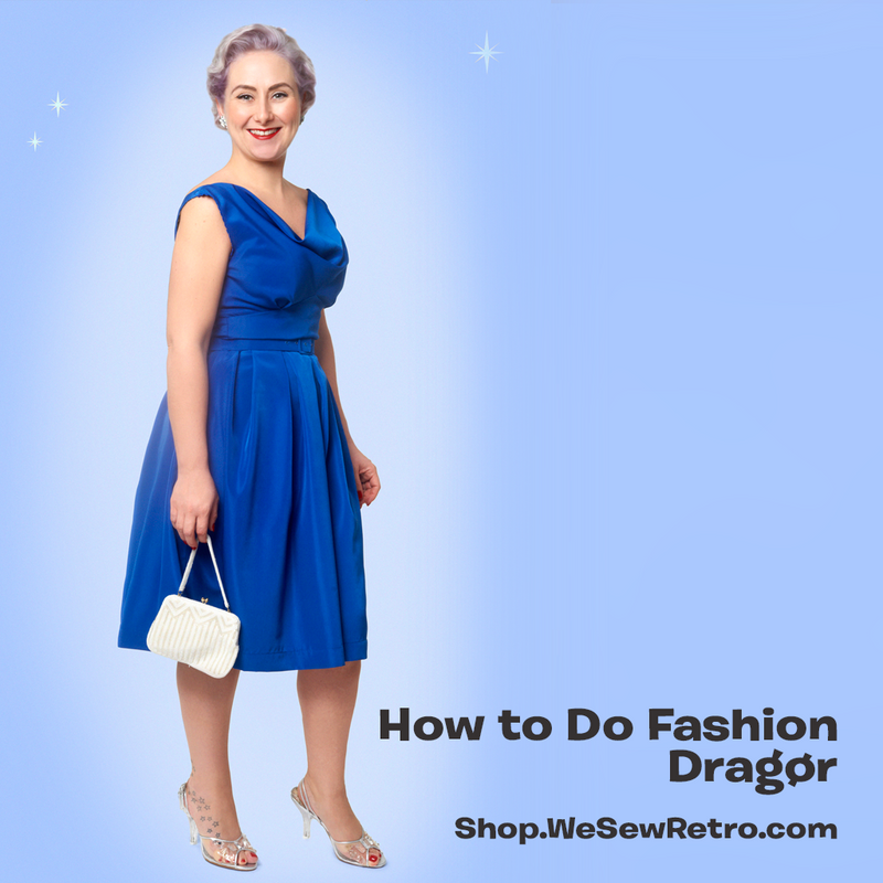 How to do Fashion Dragør 1950s Dress Paper Sewing Pattern