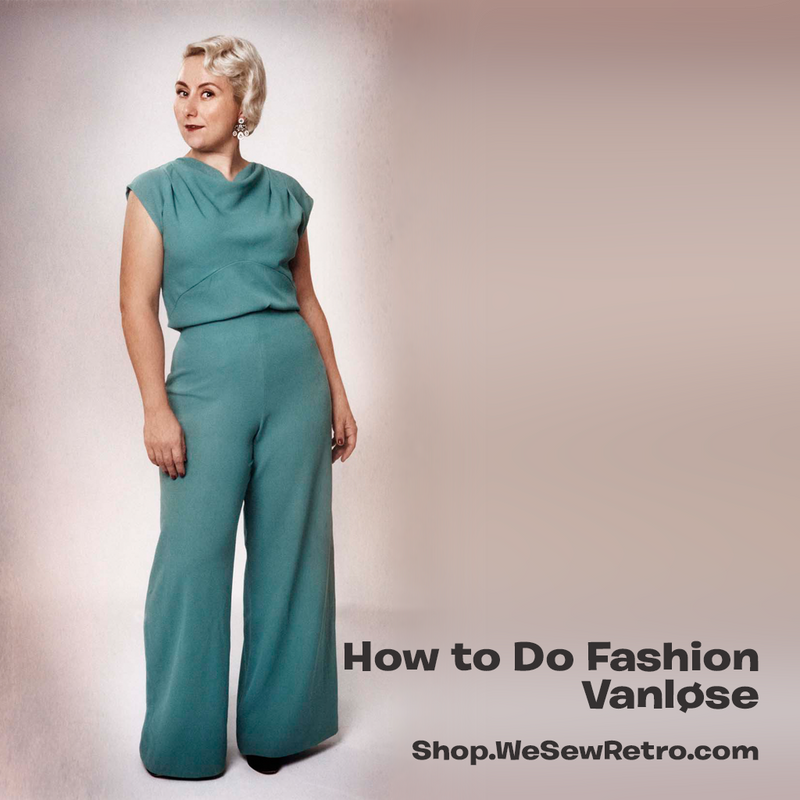 How To Do Fashion Vanløse 1930s Trouser & Blouse Set Paper Sewing Pattern