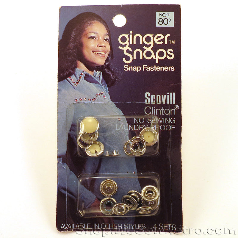 Cream Vintage Snap Fasteners for Pearl Snap Shirts