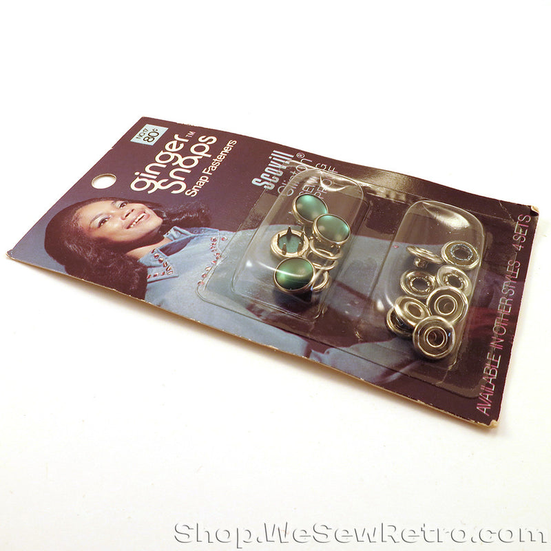 Green Vintage Snap Fasteners for Pearl Snap Shirts