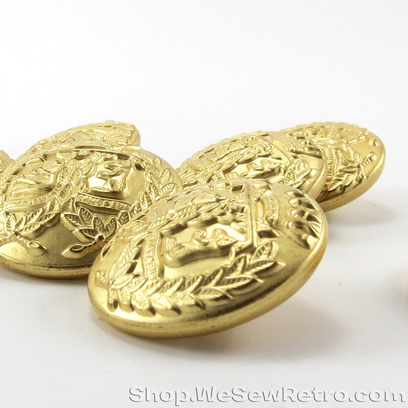 Set of 8 Gold Tone Fashion Buttons