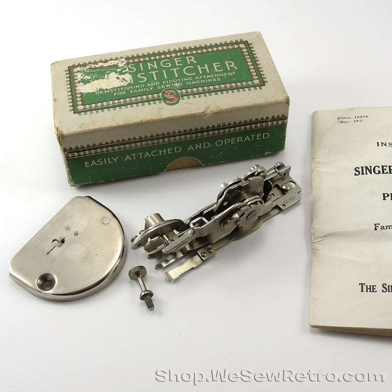 Vintage Singer Hemstitcher & Picot Edger - Featherweight Compatible - Complete in Original Box with Instructions