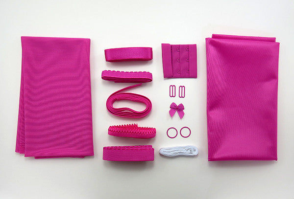 Single Bra Making Kit in Fuchsia or Black