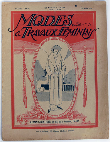 1920s Vintage Catalog: Modes & Travaux Feminins. PDF Digital Download