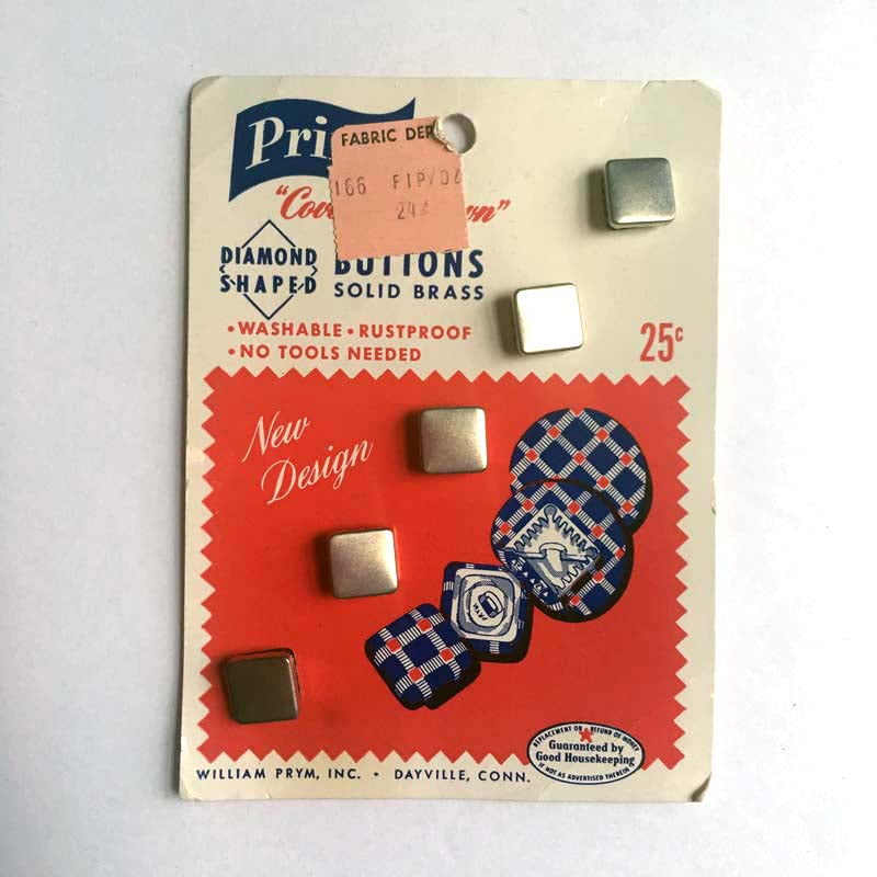 Vintage Square Cover-Your-Own Buttons